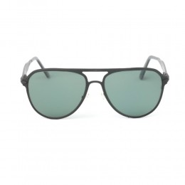 نظارة شمسية,ماركة LAMBORGHINI, موديل 507-52,للجنسين,افييتور,إطار اسود, عدسات اسود,خليط معدني