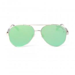 نظارة شمسية,ماركة LAMBORGHINI-Y20, موديل 568-55,للجنسين,افييتور,إطار ذهبي, عدسات الاخضر,خليط معدني