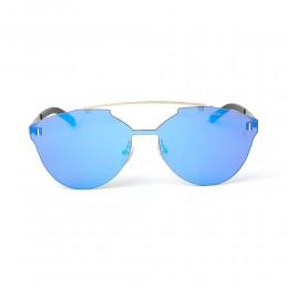 نظارة شمسية,ماركة LAMBORGHINI-Y20, موديل 581-54,للنساء,سداسي,إطار ذهبي, عدسات الازرق,خليط معدني