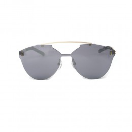 نظارة شمسية,ماركة LAMBORGHINI-Y20, موديل 531-56,للنساء,سداسي,إطار ذهبي, عدسات فضي,خليط معدني