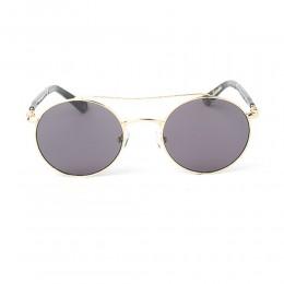 نظارة شمسية,ماركة LAMBORGHINI-Y20, موديل 590-51,للجنسين,مستدير,إطار ذهبي, عدسات اسود,خليط معدني