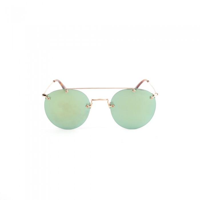 نظارة شمسية,ماركة LINEA ROMA , موديل lloydsun-c3,للنساء,مستدير,إطار ذهبي, عدسات الاخضر,خليط معدني