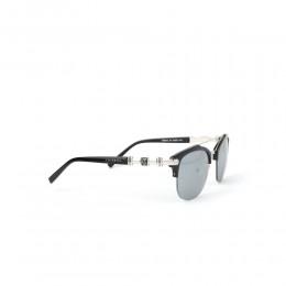 نظارة شمسية,ماركة CHARRIOL, موديل 9012-52-c4,للجنسين,سميك من الاعلي,إطار اسود, عدسات فضي,متعددة