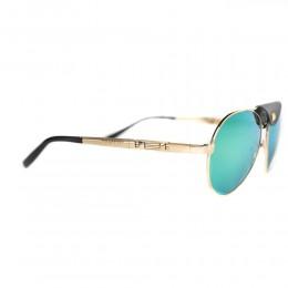 نظارة شمسية,ماركة charriol geneve,موديل 9019,للرجال,افييتور,ذهبي,عاكسة,لون العدسة الاخضر,خليط معدني