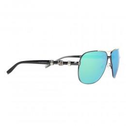 نظارة شمسية,ماركة charriol geneve,موديل 9020,للرجال,افييتور,اسود,عاكسة,لون العدسة الاخضر,خليط معدني