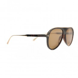 نظارة شمسية,ماركة Tom Ford ,موديل 624,للرجال,افييتور , لون اطار بني ,عدسة بني,خليط معدني