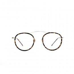 نظارة طبية ,ماركة XY, موديل 1816-c7,للنساء,مستدير,إطار مزيج من الالوان, عدسات شفاف,خليط معدني