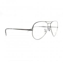 نظارة طبية ,ماركة RAYBAN ,موديل 6489,للجنسين,افييتور , لون اطار فضي ,عدسة شفاف,الومنيوم