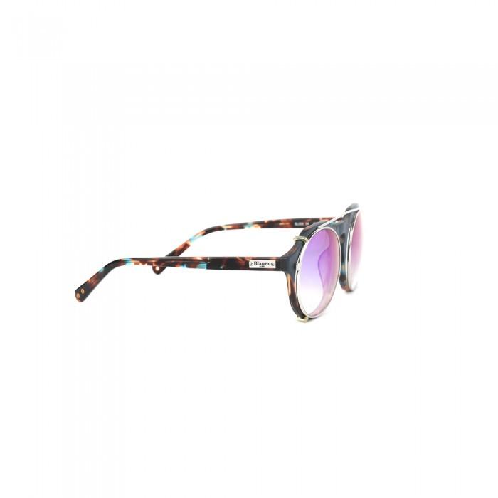 نظارة طبية ,ماركة BLAUER, موديل fr-008-c4,للجنسين,مستدير,إطار مزيج من الالوان, عدسات شفاف,خليط معدني