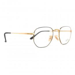 نظارة طبية ,ماركة RAYBAN ,موديل 6448,للجنسين,كبير جدا , لون اطار ذهبي ,عدسة شفاف,خليط معدني