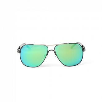 نظارة شمسية,ماركة CHARRIOL, موديل 9020-60-c1,للجنسين,افييتور,إطار اسود, عدسات الاخضر,خليط معدني