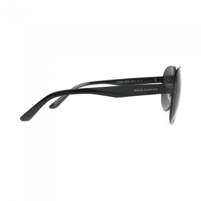 نظارة شمسية,ماركة Armani Exchnge ,موديل 2034S,للرجال,افييتور , لون اطار اسود ,عدسة اسود,خليط معدني