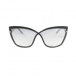 نظارة شمسية,ماركة Tom Ford ,موديل 715,للنساء,الفراشة , لون اطار اسود ,عدسة رمادي,خليط معدني