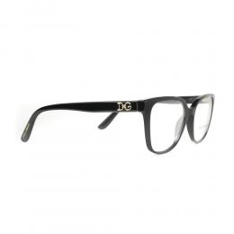 نظارة طبية ,ماركة Dolce &Gabbana ,موديل 3321,للنساء,عيون القط , لون اطار اسود ,عدسة شفاف,اسيتات
