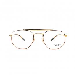 نظارة طبية ,ماركة RAYBAN ,موديل 3648V,للجنسين,سداسي , لون اطار مزيج من الالوان ,عدسة شفاف,خليط معدني