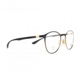 نظارة طبية ,ماركة RAYBAN ,موديل 6355,للجنسين,كبير جدا , لون اطار اسود ,عدسة شفاف,خليط معدني