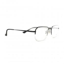 نظارة طبية ,ماركة RAYBAN ,موديل 6449,للجنسين,نصف اطار , لون اطار اسود ,عدسة شفاف,خليط معدني