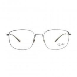نظارة طبية ,ماركة RAYBAN ,موديل 6457,للجنسين,مربع , لون اطار فضي ,عدسة شفاف,الومنيوم