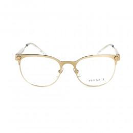 نظارة طبية ,ماركة versace ,موديل 1268,للنساء,وايفير , لون اطار ذهبي ,عدسة شفاف,خليط معدني