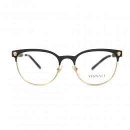 نظارة طبية ,ماركة versace ,موديل 1268,للجنسين,عيون القط , لون اطار مزيج من الالوان ,عدسة شفاف,خليط معدني