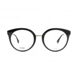 نظارة طبية ,ماركة Fendi ,موديل 303,للنساء,عيون القط , لون اطار اسود ,عدسة شفاف,خليط معدني