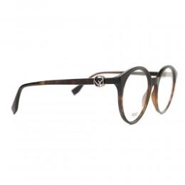 نظارة طبية ,ماركة fendi ,موديل 309,للنساء,عيون القط , لون اطار مزيج من الالوان ,عدسة شفاف,اسيتات